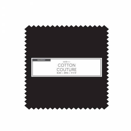 10in Squares, Cotton Couture, Black, 42pcs/bundle