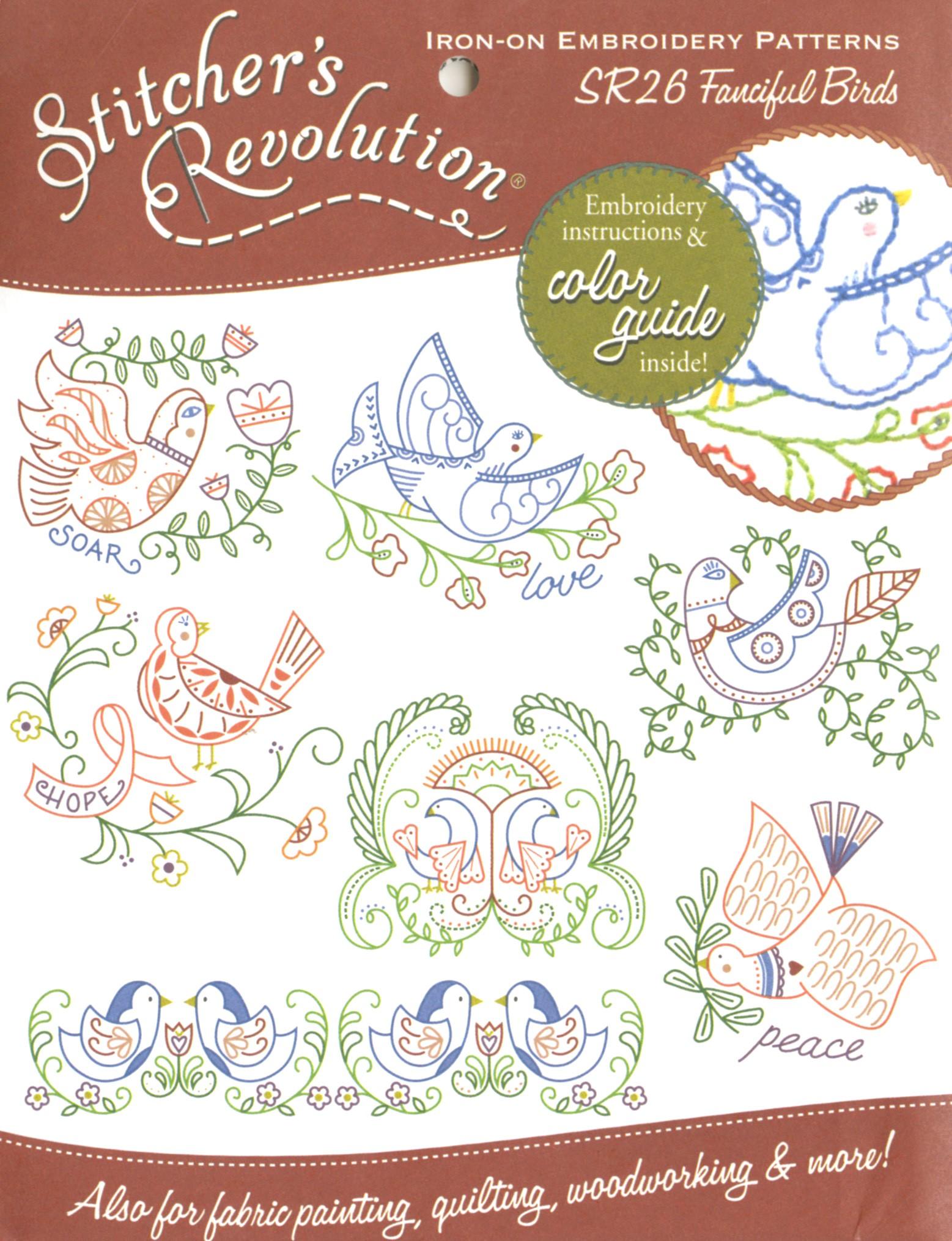 Stitchers Revolution Folksy Farm Iron-On Transfer Pattern for Embroidery