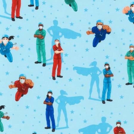 Blue Frontline Heroes Nurses & Doctors Digitally Printed