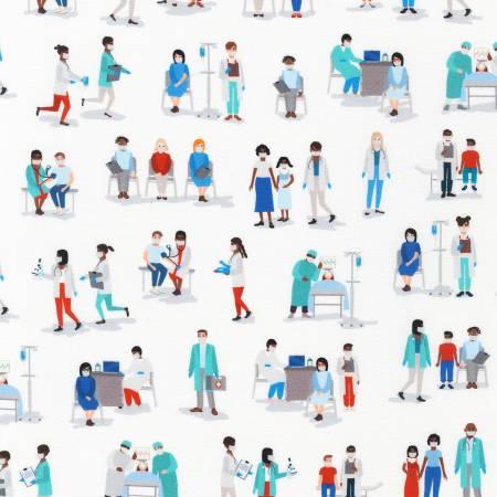 White Frontline Heroes Nurses & Doctors Digitally Printed