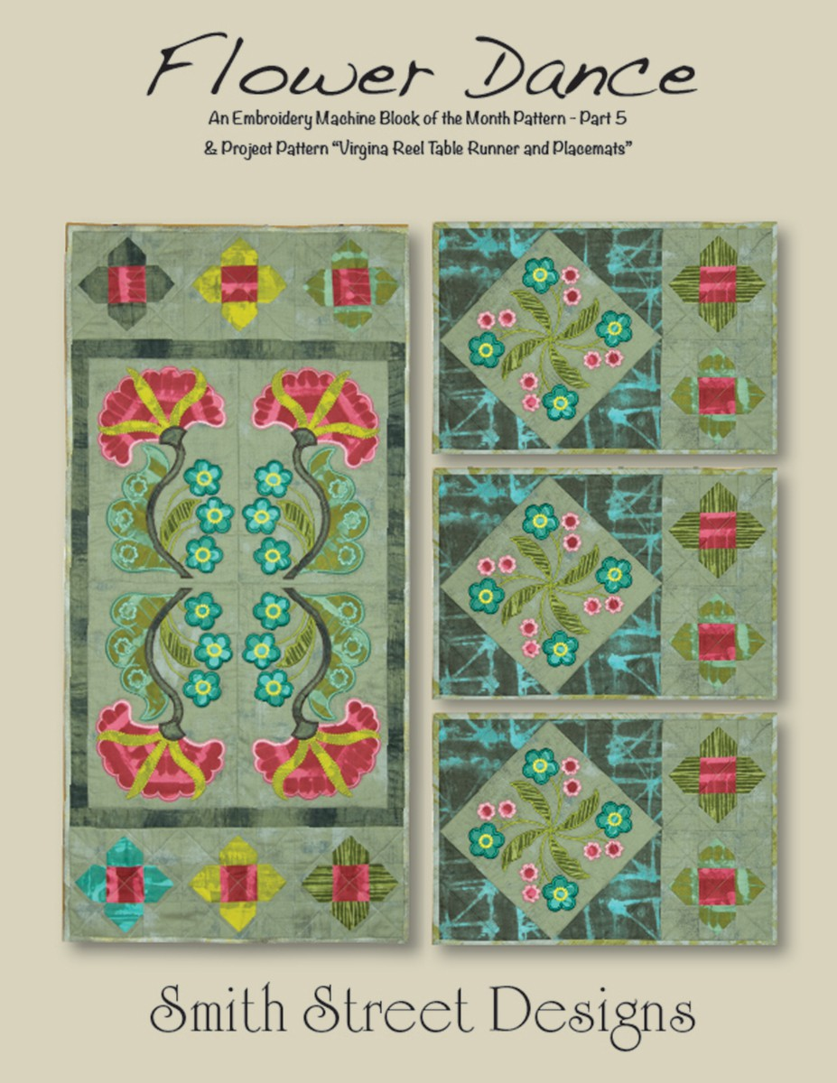QAYG ith styles Ladies Dancing 4-5 trapunto quilt block embroidery designs 4 and 5 sizes