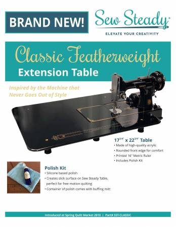 Sew Steady Classic Featherweight Extension Table 17-3/4in x 22-3/4in