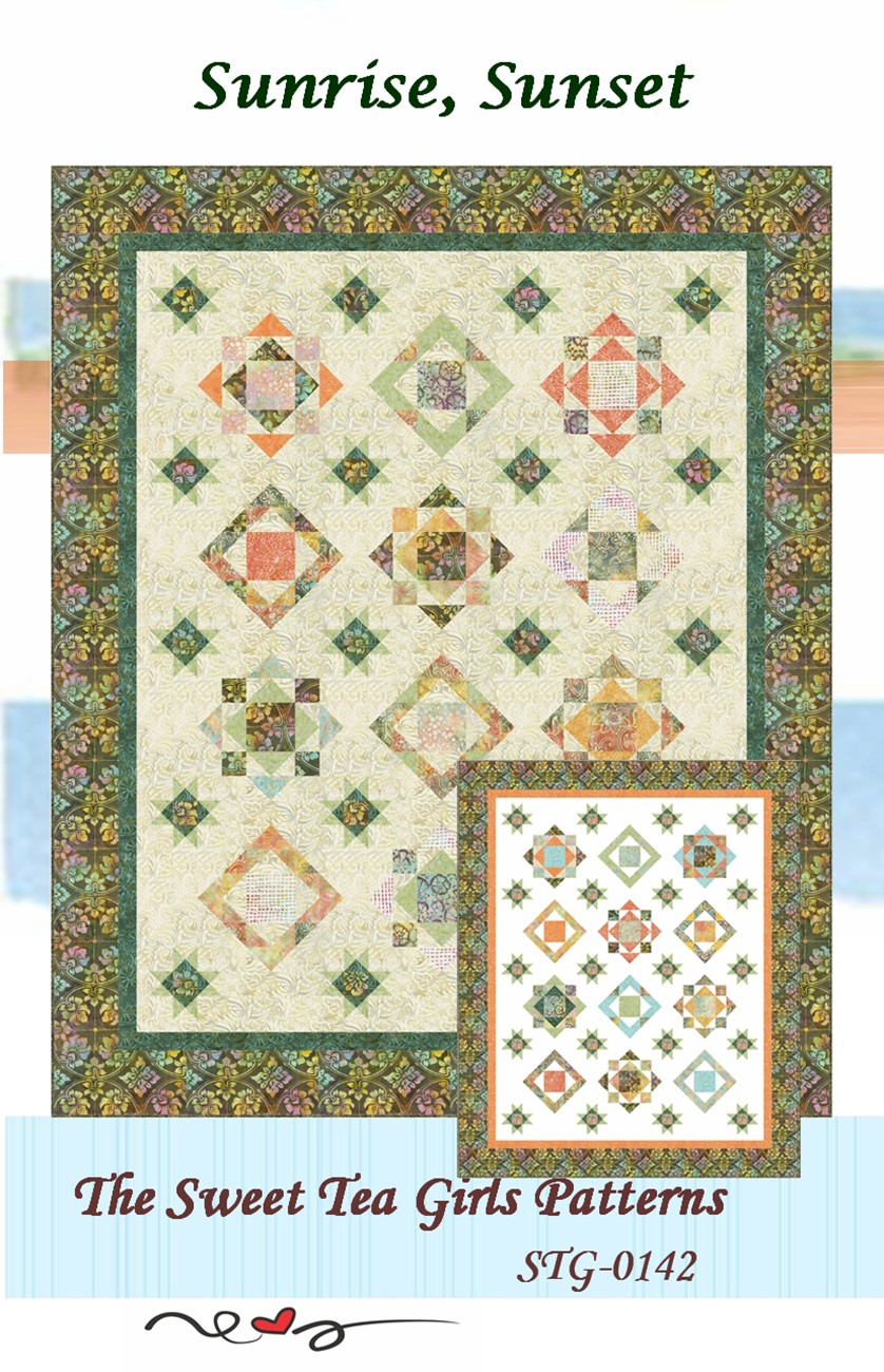 #1 FAN QUILT QUILTING PATTERN from The Sweet Tea Girls Patterns *NEW*