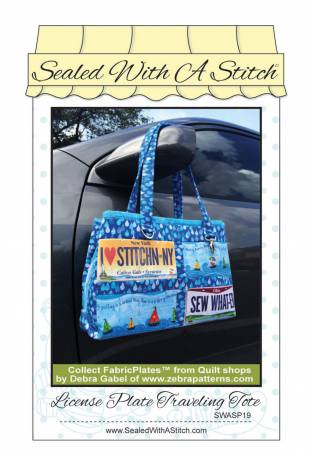 License Plate Traveling Tote