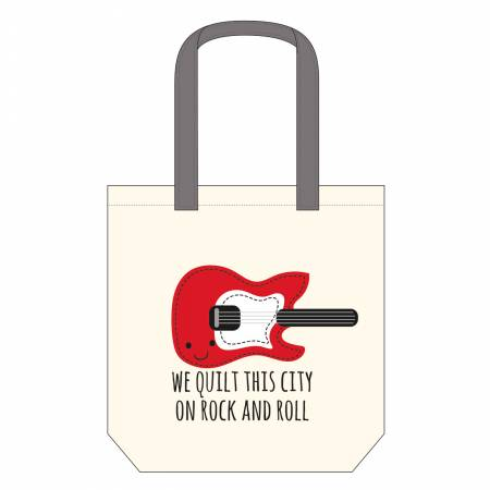 We Quilt this City Canvas Tote Bag 14-1/2in x 16in