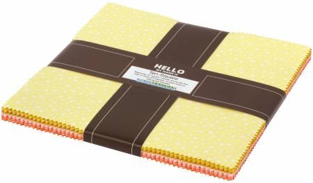 10in Squares Paintbox Sunshine, 42pcs/bundle