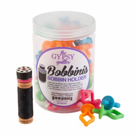 The Gypsy Quilter Bobbini Bobbin Holders 60pc Jar