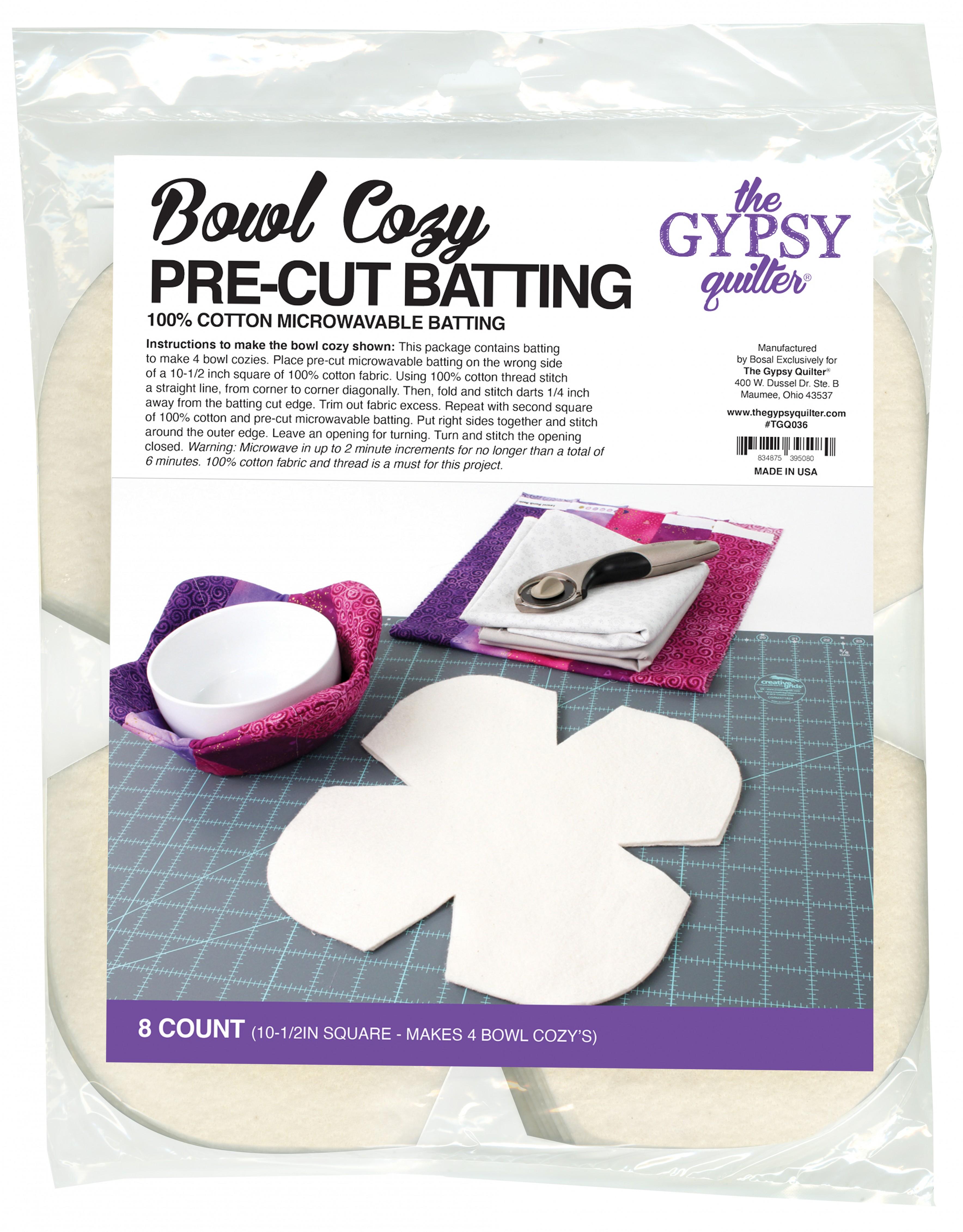 machine washable reversible Microwaveable Bowl Cozies set of 3 includes 1 lge2 reg double cotton batting