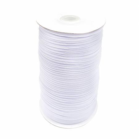 1/4in Flat White Elastic 220yds