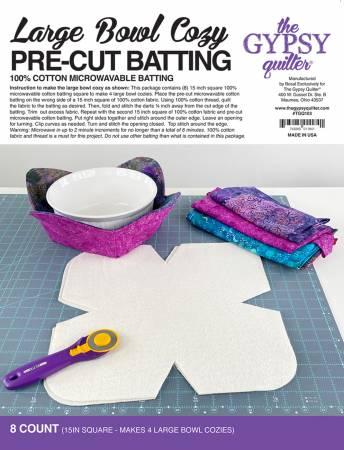 Large Bowl Cozy Pre Cut Batting 8ct