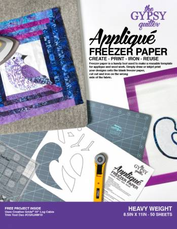 Gypsy Quilter Freezer Paper 8 1/2in x 11in Heavy Weight 50ct