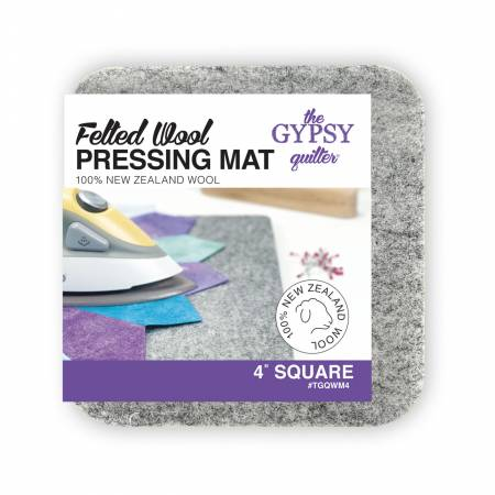 Wool Pressing Mat 4in x 4in x 1/2in Thick