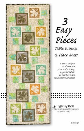 3 Easy Pieces Table Runner & Place Mats