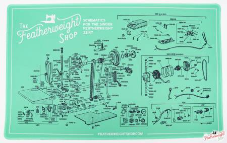 Featherweight Schematic Servicing Mat for the White 221K7 Machine