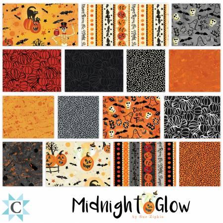 10in Squares Midnight Glow, 42pcs, 4 bundles per pack