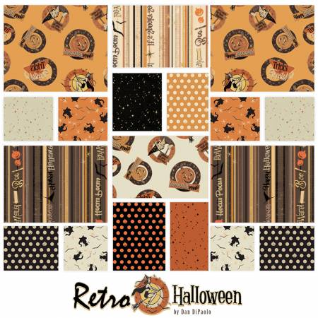 10in Squarse Retro Halloween, 42pcs, 4 bundles/pack