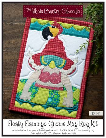 Floaty Flamingo Gnome Mug Rug Kit