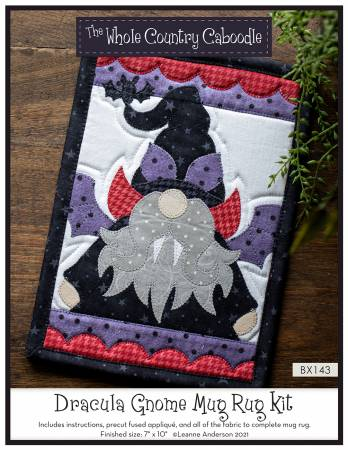 Dracula Gnome Mug Rug Kit
