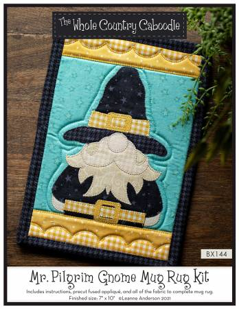 Mr. Pilgrim Gnome Mug Rug Kit