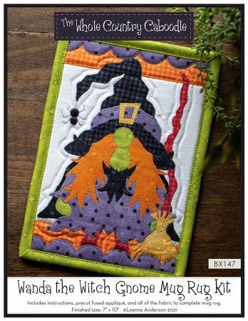 Wanda the Witch Gnome Mug Rug Kit