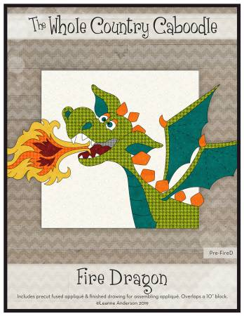 Fire Dragon Precut Fused Applique Pack