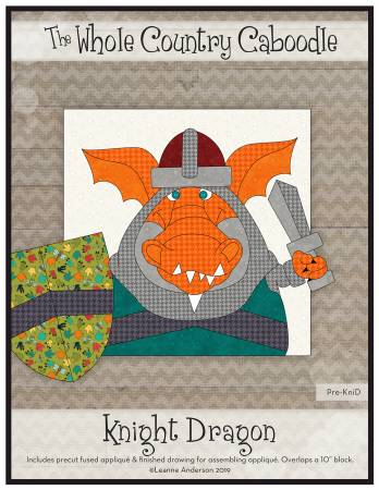 Knight Dragon Precut Fused Applique Pack