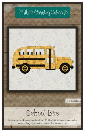 School Bus Precut Fused Applique Pack