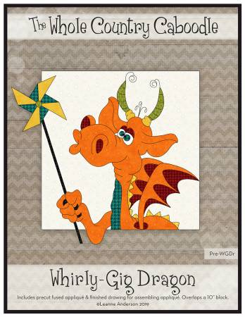 Whirly-Gig Dragon Precut Fused Applique Pack