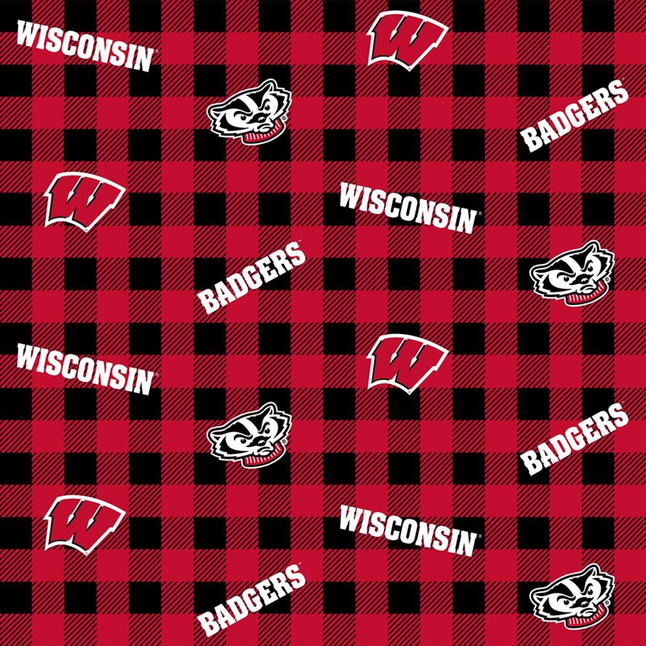 NCAA-Michigan Cotton Flannel Fabric-Michigan Wolverines Flannel Fabric-MCHG1191