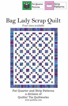 Bag Lady Scrap Quilt 2-1/2in Strip Quilt Pattern