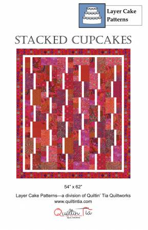 Stacked Cupcakes 10in Square Quilt Pattern